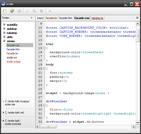 ScIDE screenshot