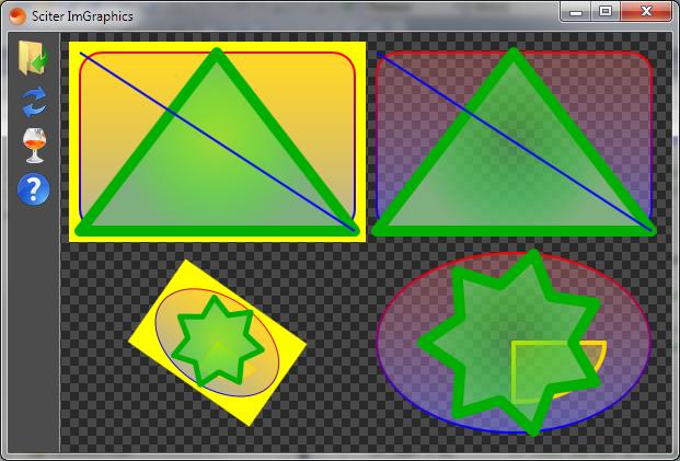 Immediate mode graphics sample
