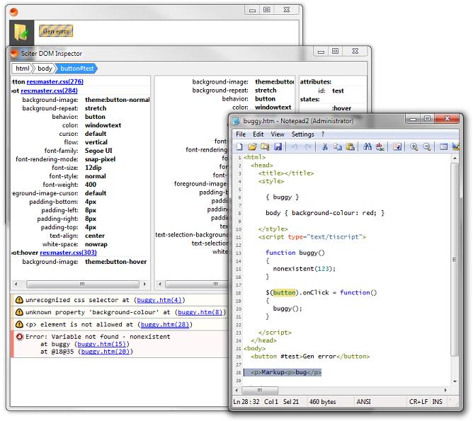 Sciter v.2.0.0.13 screenshot