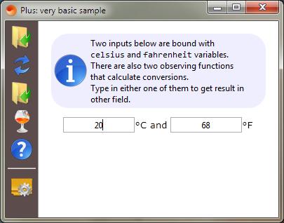 Celsius to Fahrenheit convertor.