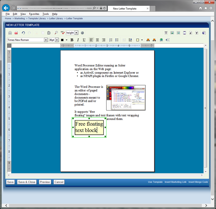 Word Processor in Sciter screenshot